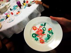 Роспись по тарелочкам